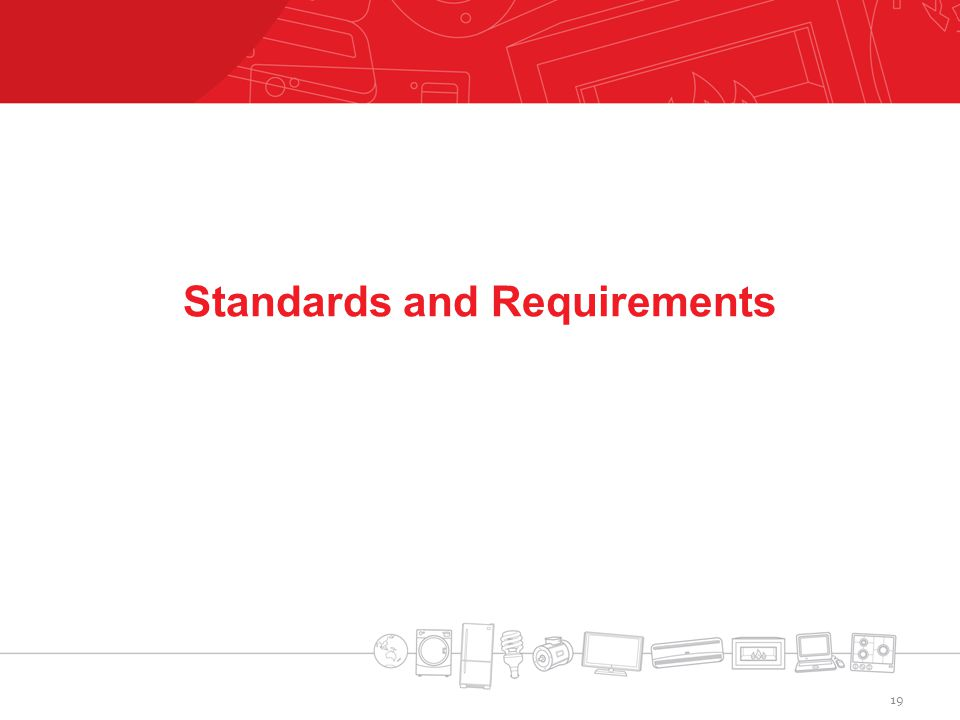 Standards and Requirements 19