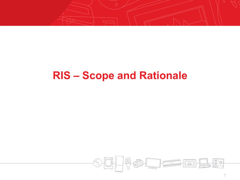 RIS – Scope and Rationale 7