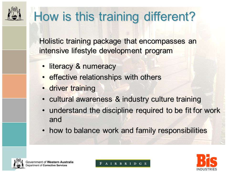 How is this training different.