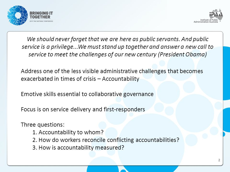 Q.3: How is Accountability Measured.