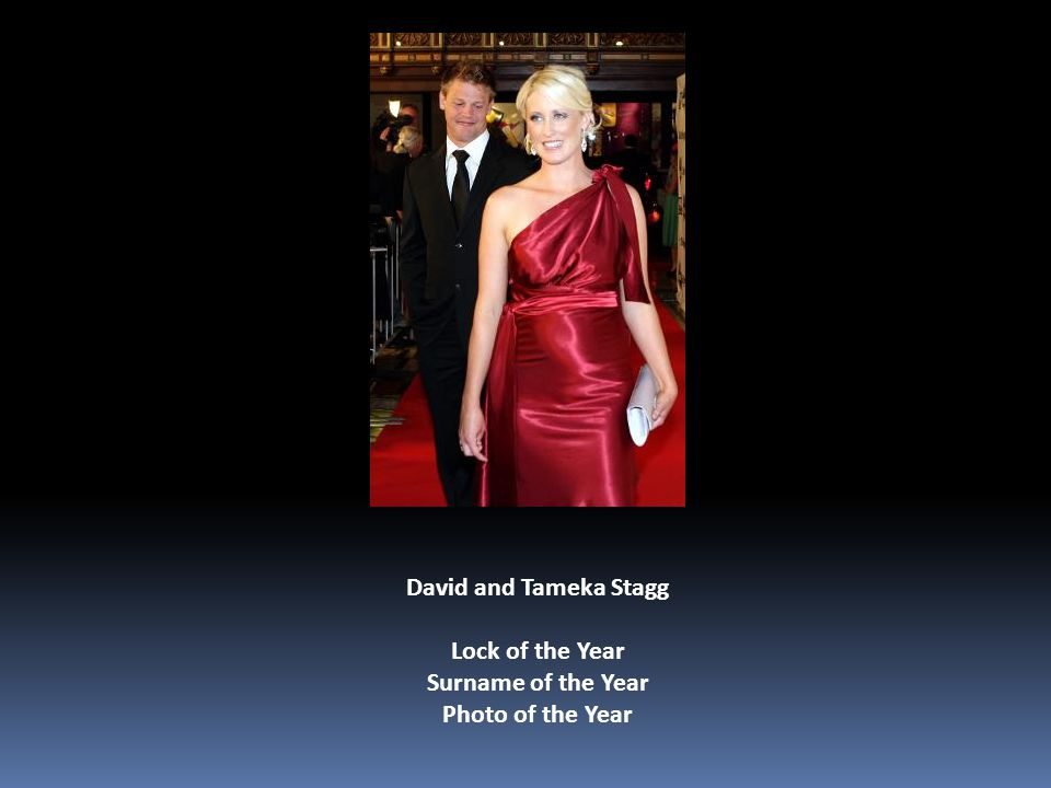 David and Tameka Stagg Lock of the Year Surname of the Year Photo of the Year