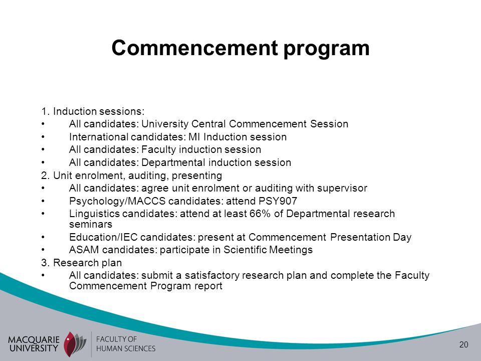 20 Commencement program 1.