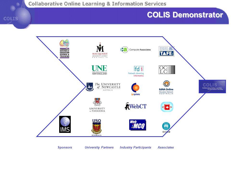 University Partners Industry Participants Associates Sponsors COLIS Demonstrator