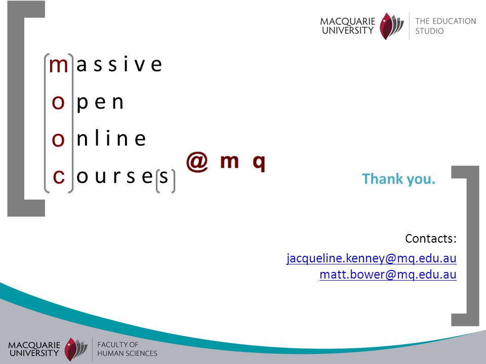 [ ] a s s i v e p e n n l i n e o u r s e s moocmooc Thank you.
