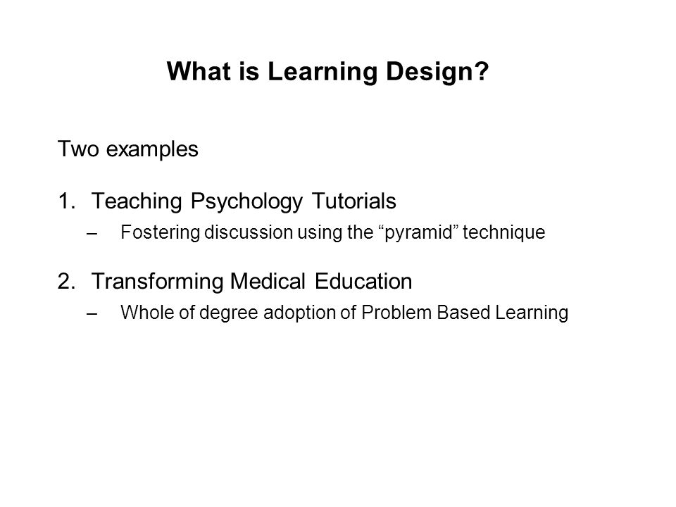 What is Learning Design.