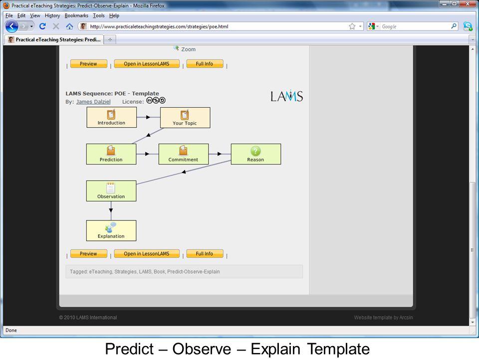 Predict – Observe – Explain Template