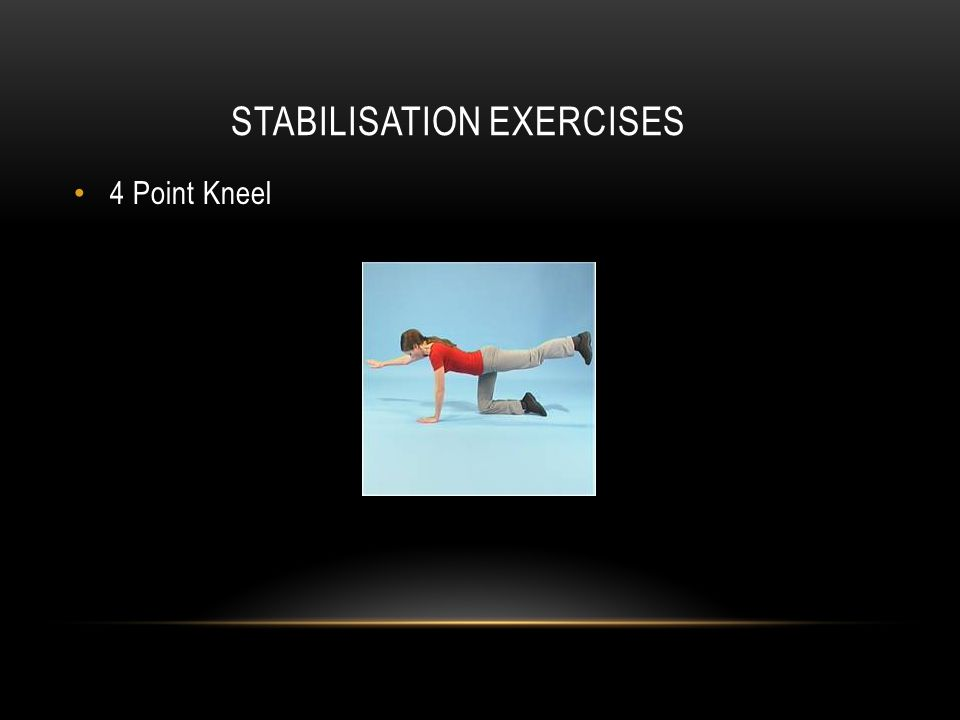 STABILISATION EXERCISES 4 Point Kneel