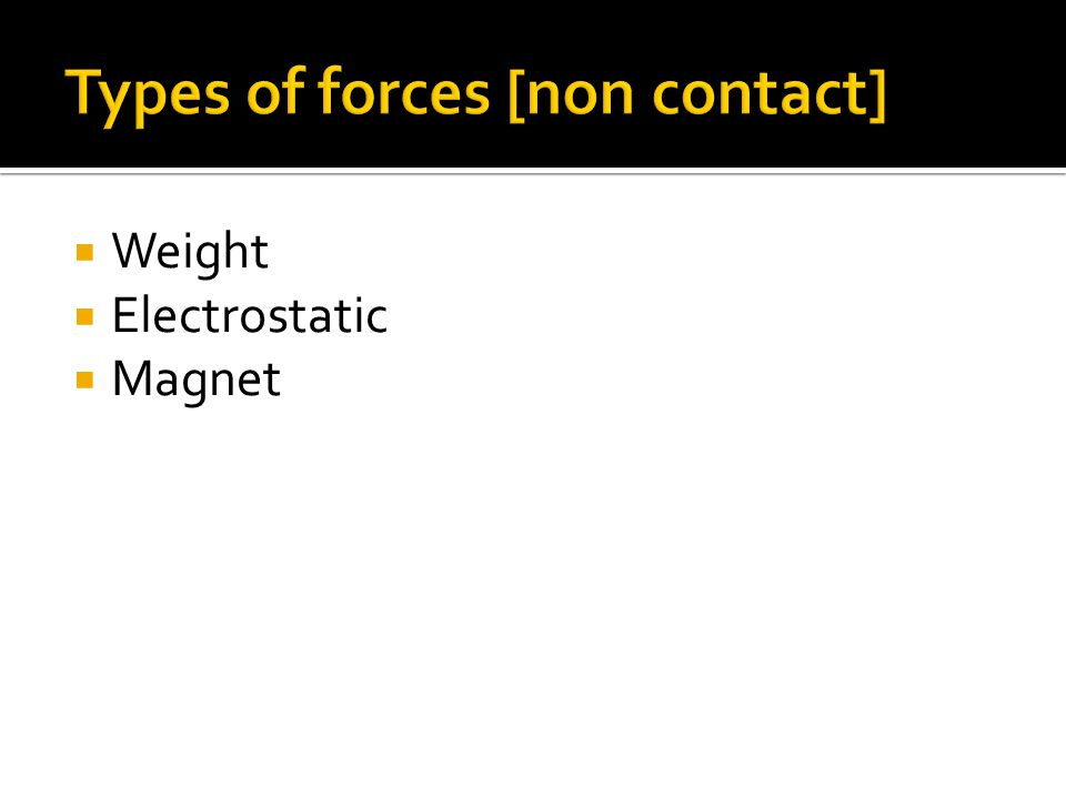  Weight  Electrostatic  Magnet