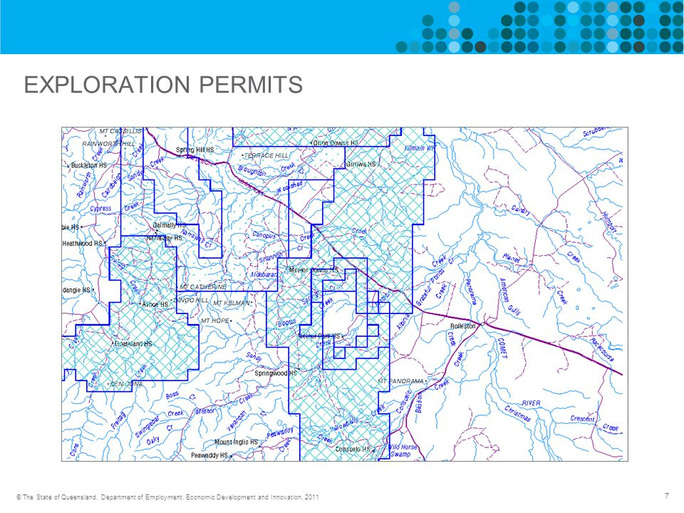 7 © The State of Queensland, Department of Employment, Economic Development and Innovation, 2011 EXPLORATION PERMITS