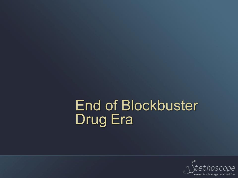 End of Blockbuster Drug Era