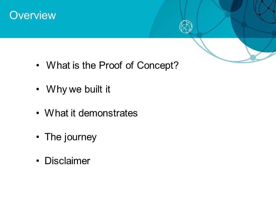 What is the Proof of Concept? Why we built it What it demonstrates The journey Disclaimer Overview