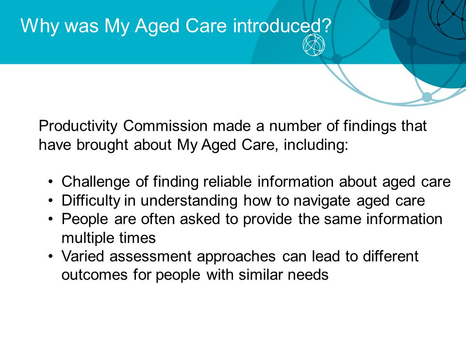 Why was My Aged Care introduced.