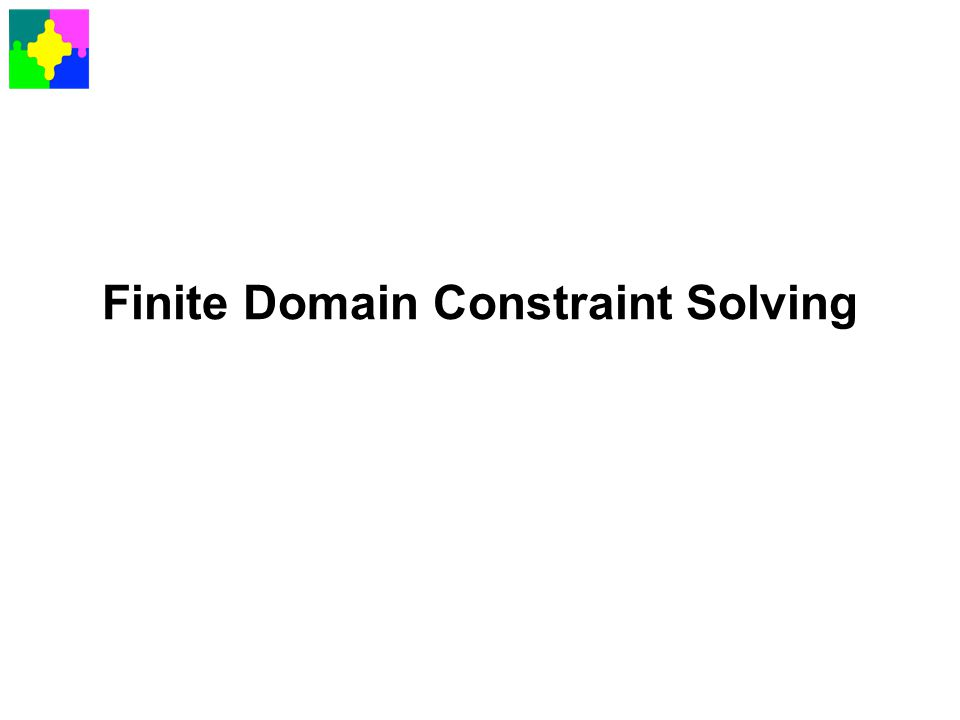 Finite Domain Constraint Solving