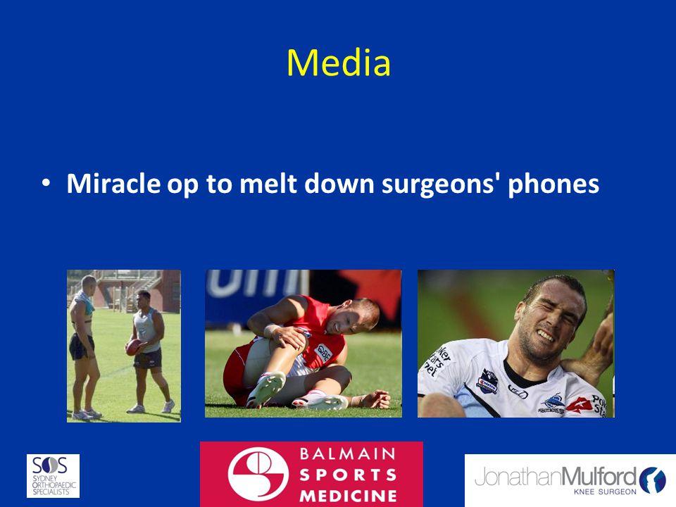 Media Miracle op to melt down surgeons' phones