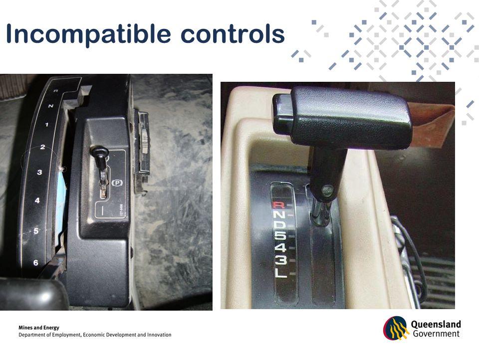 Incompatible controls