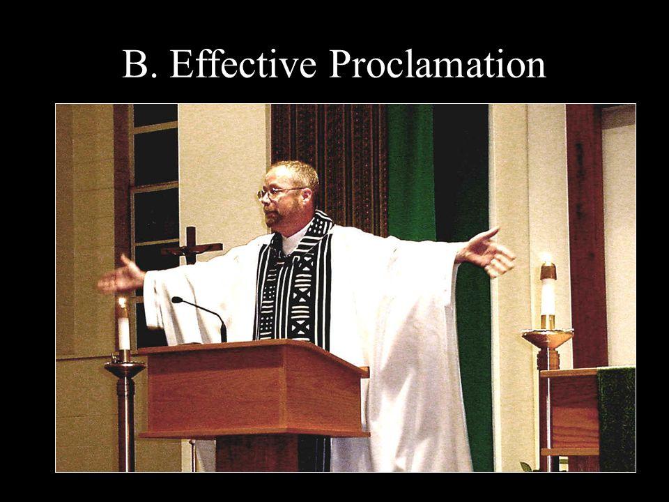B. Effective Proclamation