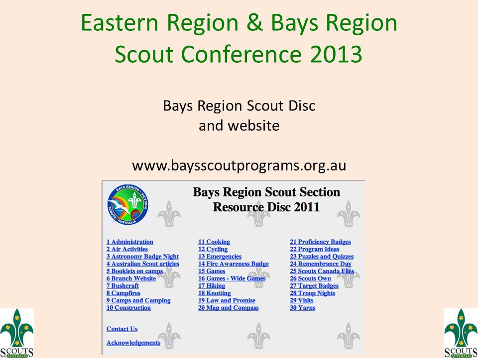 Bays Region Scout Disc and website www.baysscoutprograms.org.au