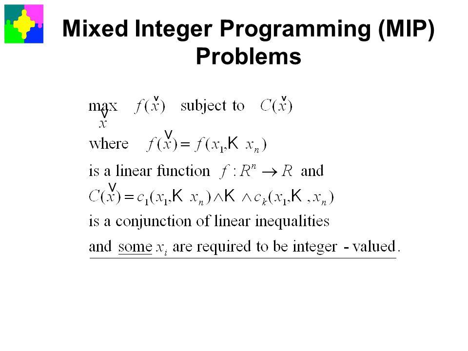 Mixed Integer Programming (MIP) Problems