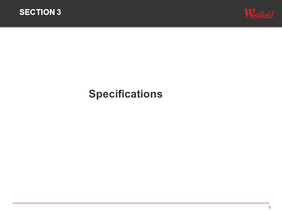 1 Specifications SECTION 3