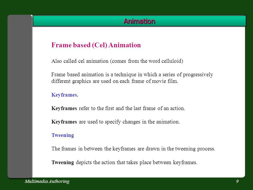 Multimedia Authoring10 Animation