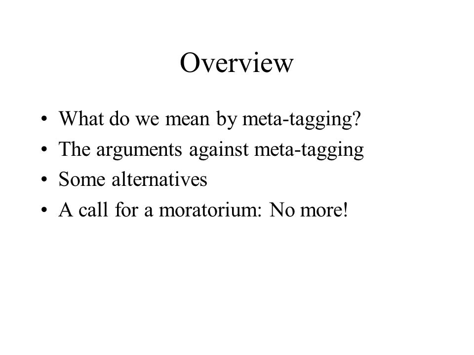 What is meta-tagging.