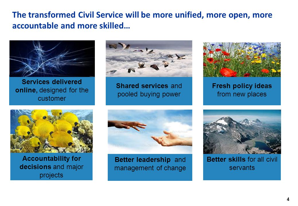 5 Civil Service Reform is already making a difference...