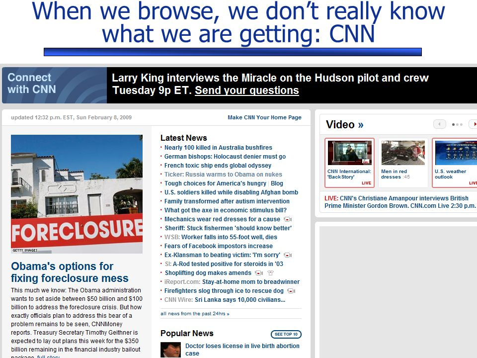 SANS Security East © 2010 SANS When we browse, we don't really know what we are getting: CNN