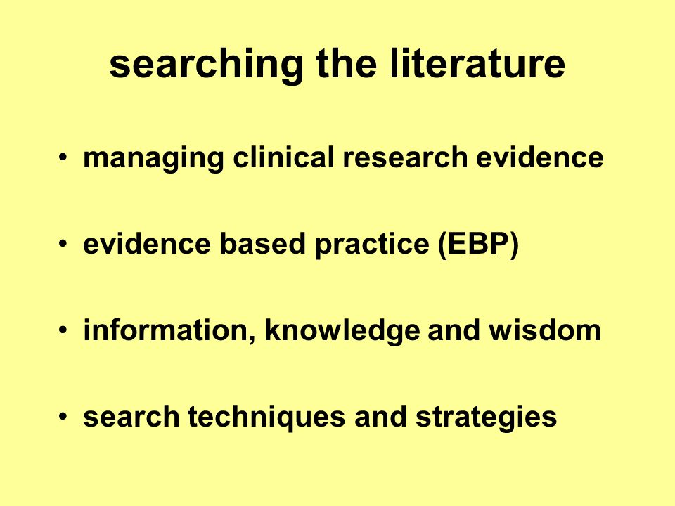 examples of 'secondary' databases content example evidence summaries texts systematic reviews 'filtered' by peers for relevance/importance structured abstracts and commentaries 'Clinical Evidence' see Best Practice (CHC) CHC resources see 'Best Practice' & 'DynaMed' other resources UpToDate ……...