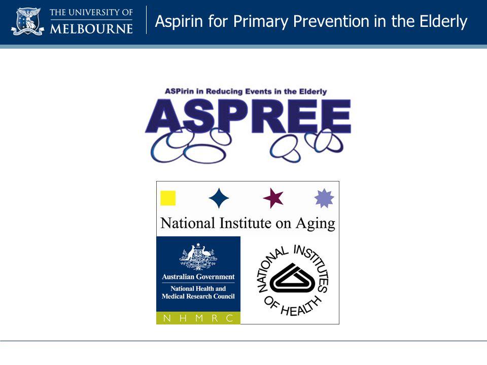 Aspirin for Primary Prevention in the Elderly
