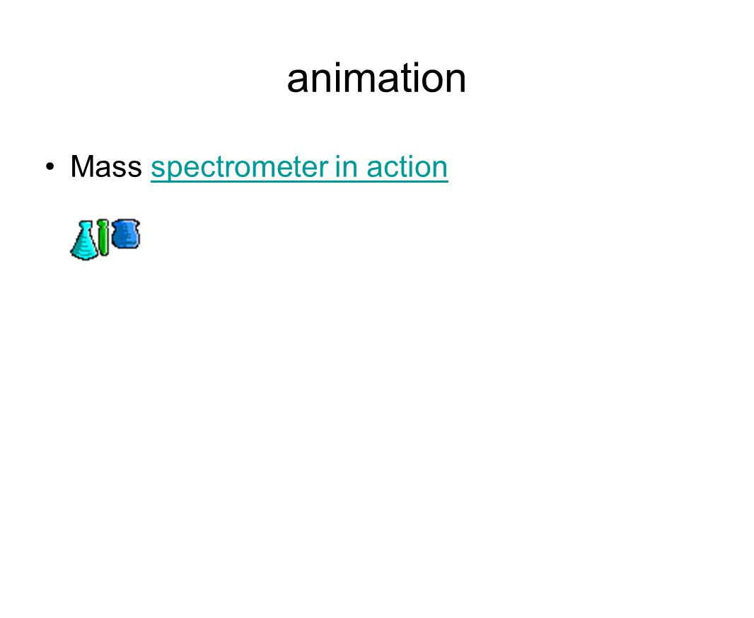 animation Mass spectrometer in actionspectrometer in action