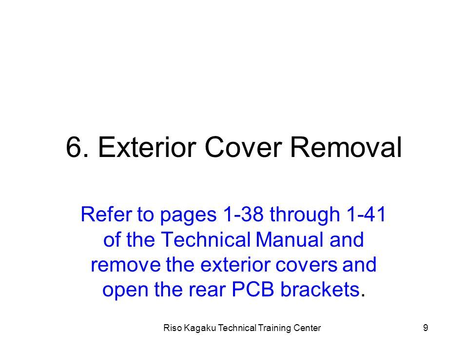 Riso Kagaku Technical Training Center50 3. Other precautions Explanation