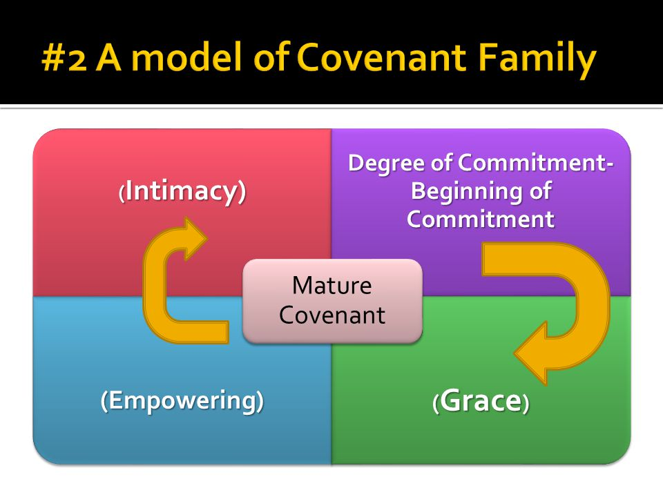 ( Intimacy) Degree of Commitment- Beginning of Commitment (Empowering) ( Grace ) Mature Covenant