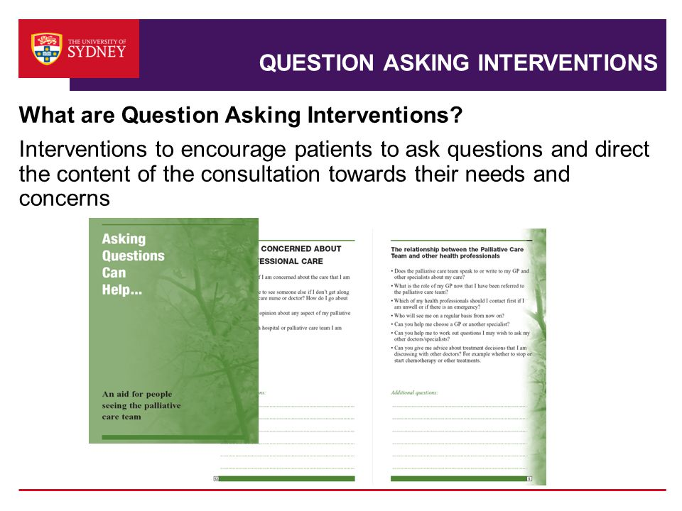 QUESTION ASKING INTERVENTIONS What are Question Asking Interventions.
