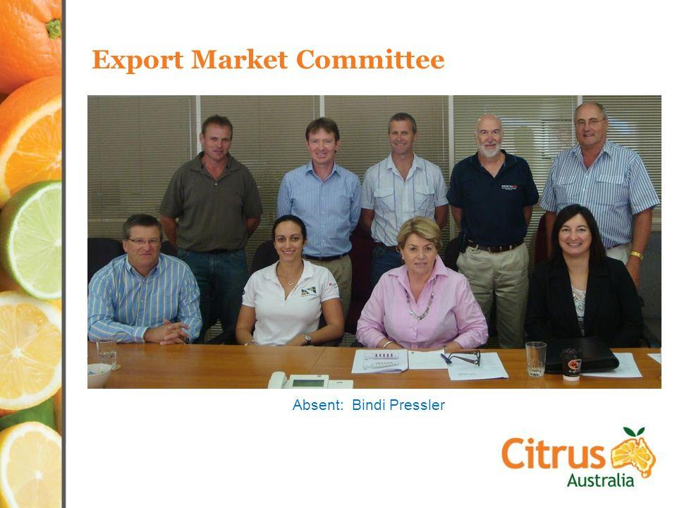 Export Market Committee Absent: Bindi Pressler