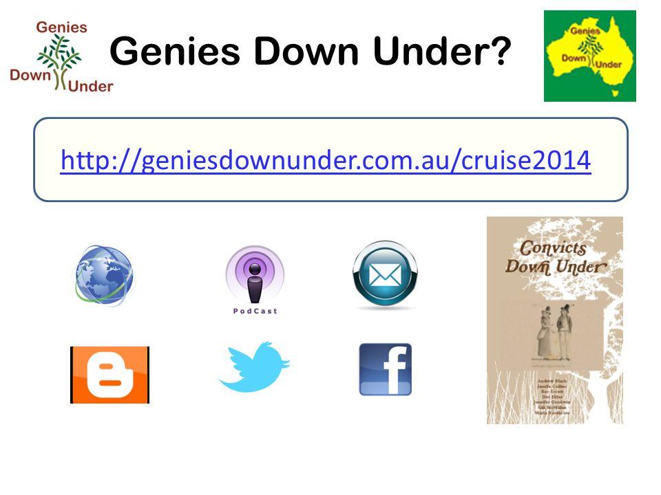 Genies Down Under? http://geniesdownunder.com.au/cruise2014