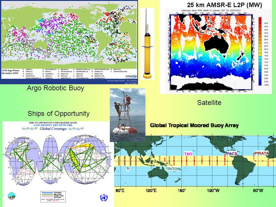 RAMA Satellite Argo Robotic Buoy Ships of Opportunity