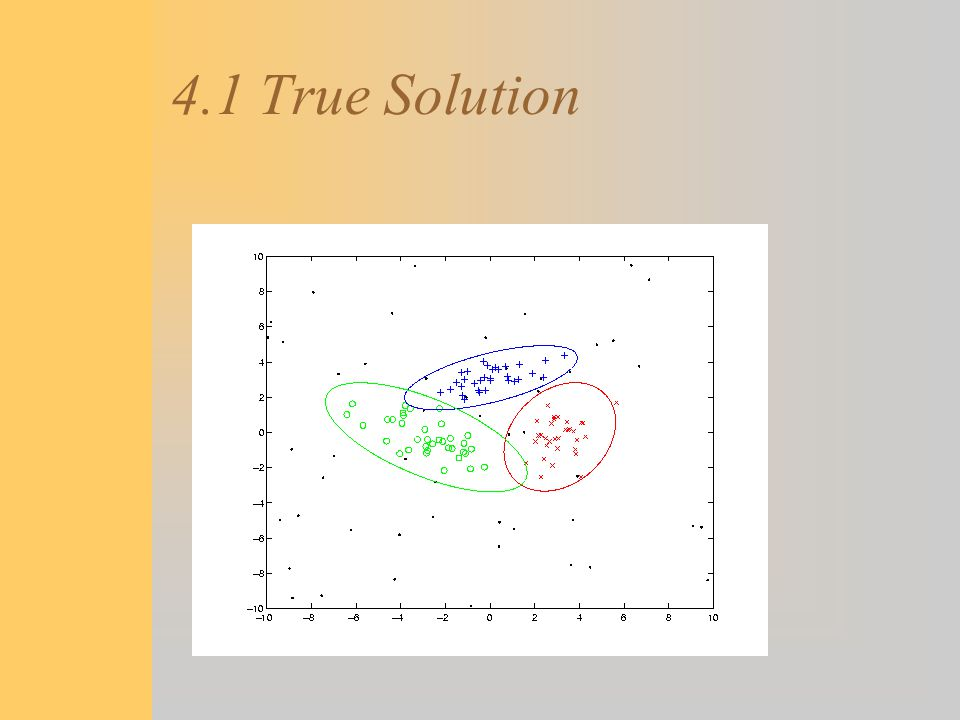 4.1 True Solution