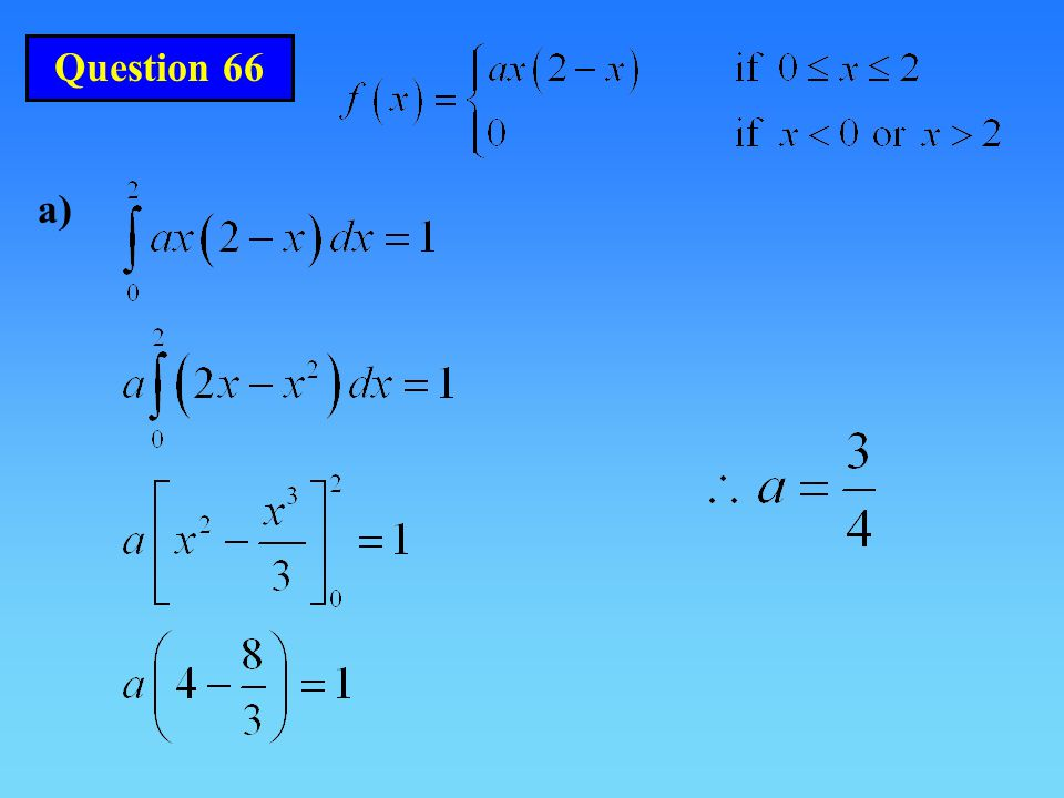 Question 66 a)