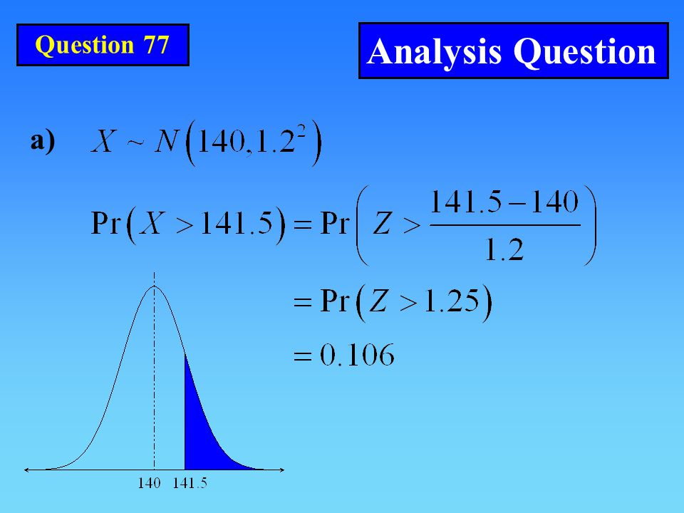 a) Question 77 Analysis Question