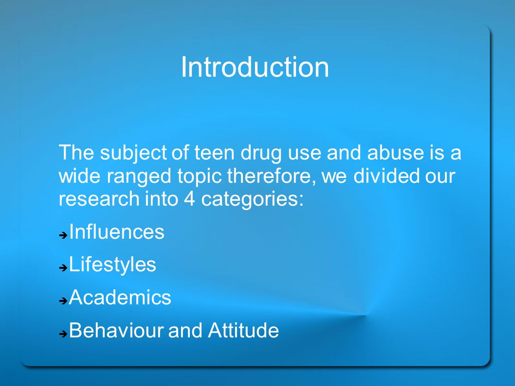 Background Information Use of Cannabis and other illicit drugs(2002) An estimated 3 million people aged 15 and older reported to have used marijuana at least once in 2002.