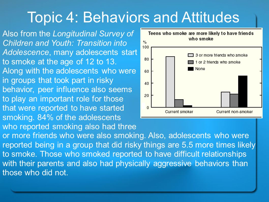 Conclusion Topic 1: Influences Influences play a big role when it comes to teens and drugs.