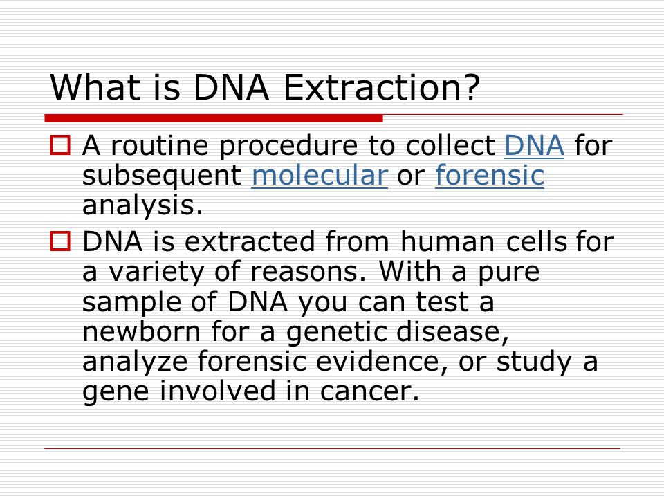 What is DNA Extraction.
