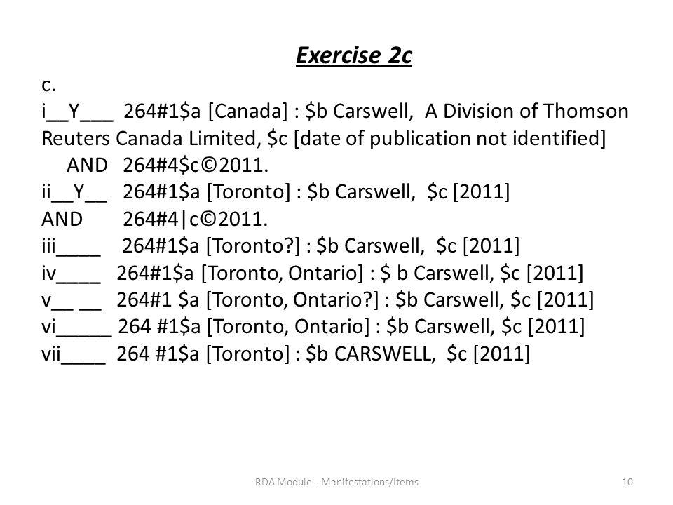 Exercise 2c c.