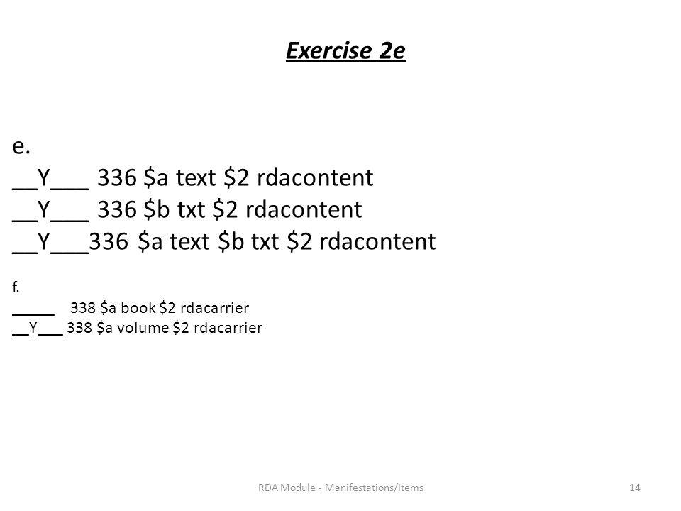 Exercise 2e e.