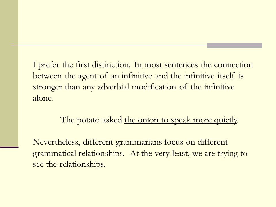 I prefer the first distinction.