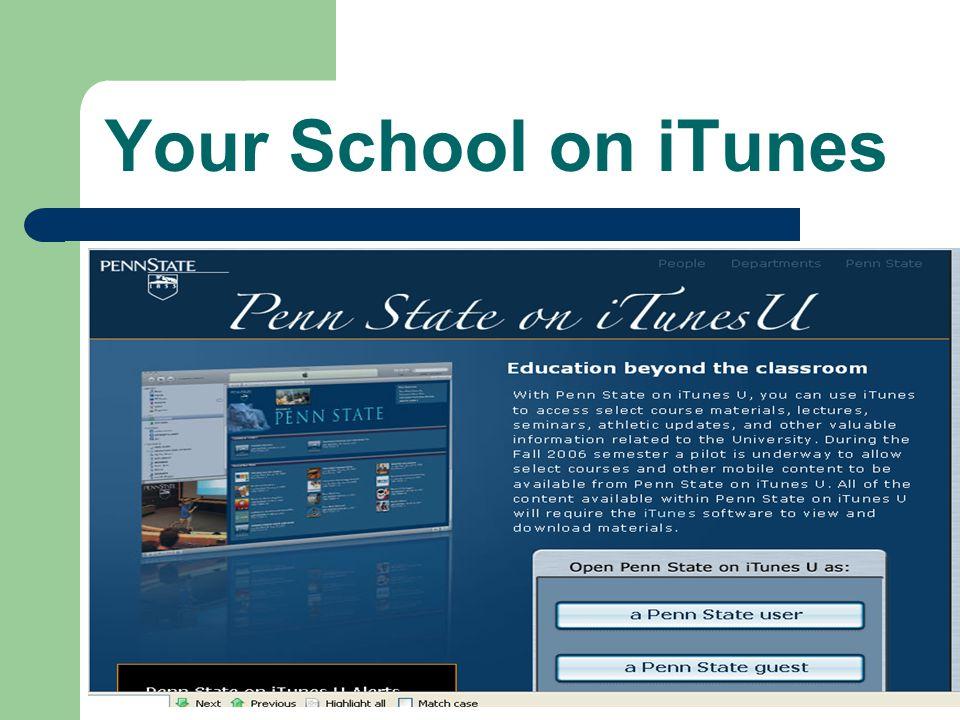Your School on iTunes