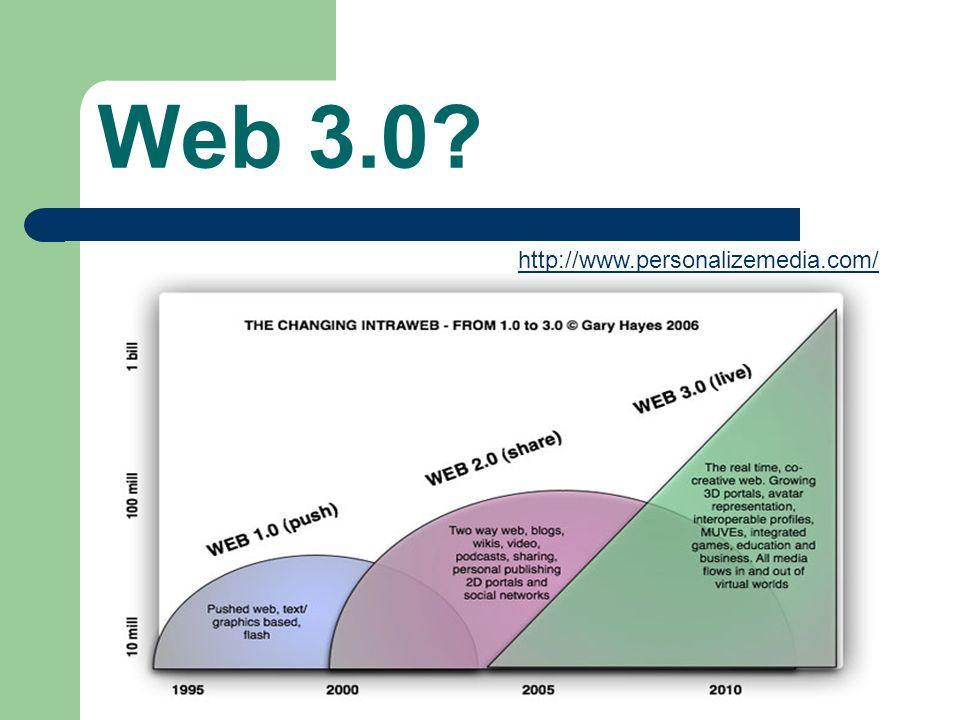 Web 3.0 http://www.personalizemedia.com/