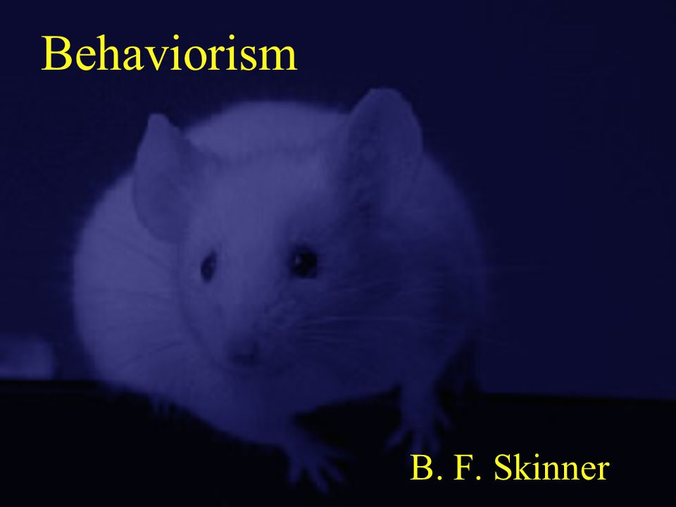 Behaviorism B. F. Skinner
