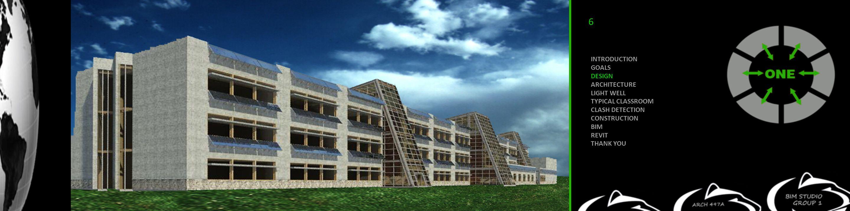 INTRODUCTION GOALS DESIGN ARCHITECTURE LIGHT WELL TYPICAL CLASSROOM CLASH DETECTION CONSTRUCTION BIM REVIT THANK YOU 6