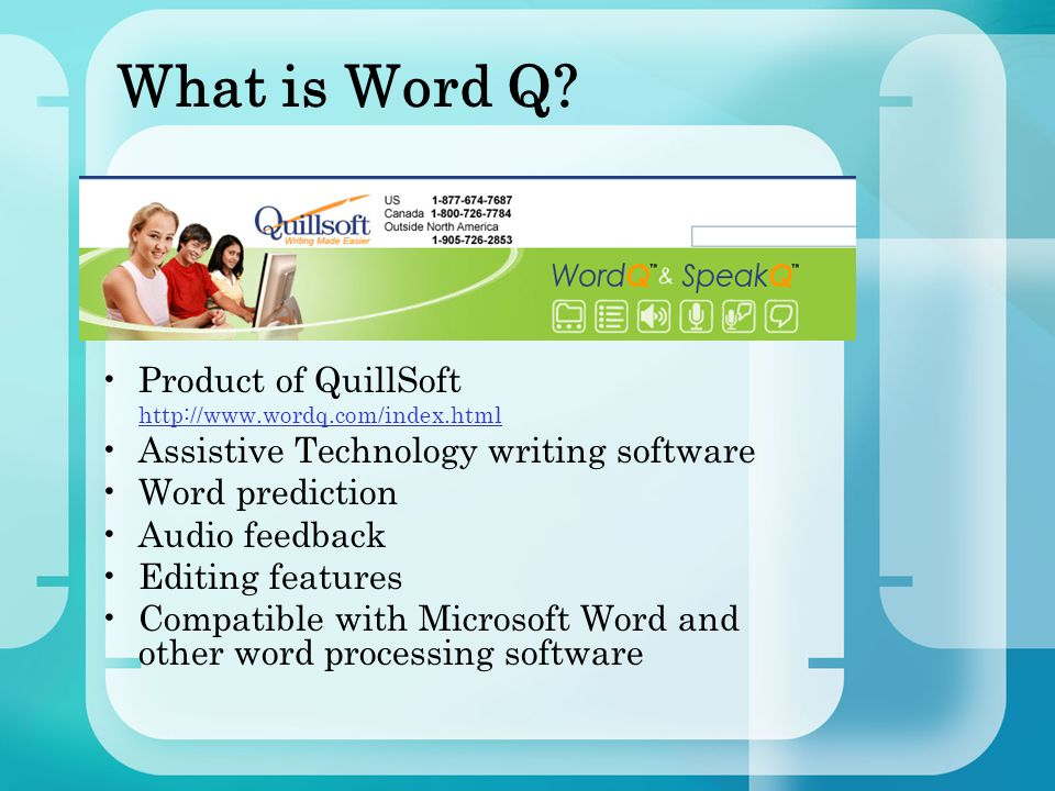 Why use Word Q.